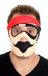 Meia Máscara Dublada Pirata