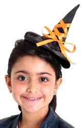 Mini Chapéu  Trançado Preto | Laranja
