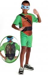 Fantasia Tartarugas Ninjas Curto - Leonardo