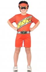 Fantasia Power Rangers Charge Vermelho Curto