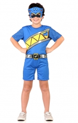 Fantasia Power Rangers Charge Azul Curto
