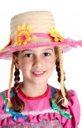 Chapéu Caipira Flores Luxo