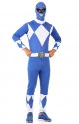 Fantasia Power Rangers Mighty Morphin Azul Adulto