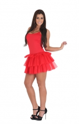 Fantasia Vestido Vermelho