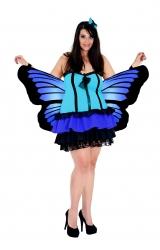 Fantasia Borboleta Azul Plus Size