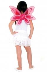 Asa Borboleta com Flor Pink