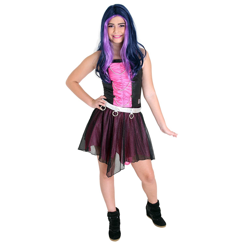 Fantasia Monster High Frankie Xadrez Luxo - Multifantasias